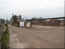 TG2407 : Lafarge Aggregates east of Trowse station by Evelyn Simak