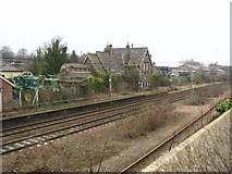 TG2407 : The Norwich to London line past Trowse station by Evelyn Simak