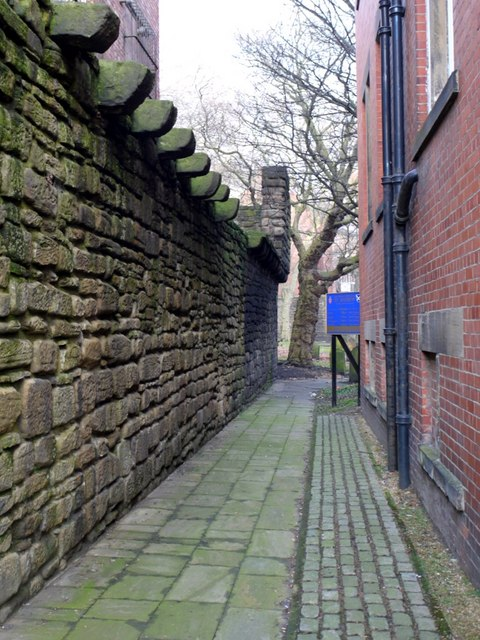 Newcastle town wall east of St Andrew's Street