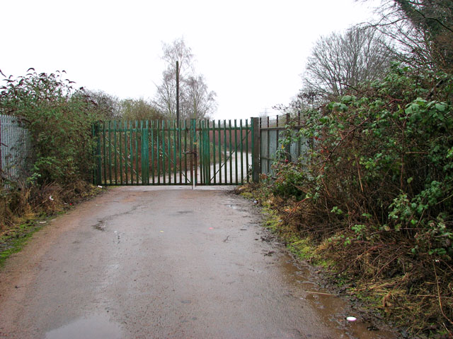 Gate on access road to Carrow Yacht Club