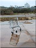 TG2407 : Shopping trolley missing a wheel by Evelyn Simak