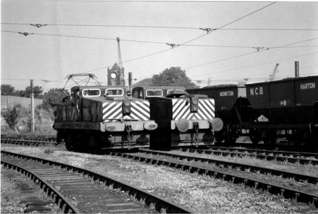 Electric Locomotives at St Hilda Sidings