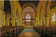 TQ2550 : St Mary's Church, Reigate - the nave by Ian Capper