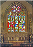 TQ2550 : St Mary's Church, Reigate - the east window and surrounds by Ian Capper