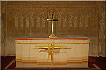 TQ2550 : St Mary's Church, Reigate - the reredos by Ian Capper