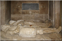 TQ2550 : St Mary's Church, Reigate - the Bludder monument by Ian Capper