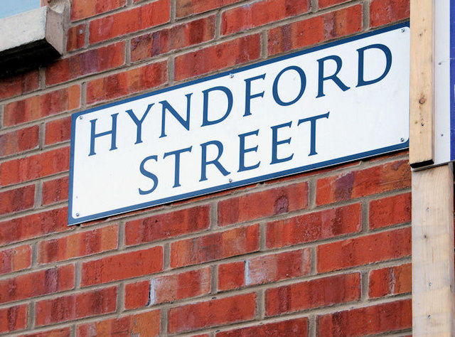 Hyndford Street sign, Belfast