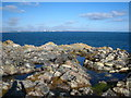 SW8023 : Rock platform on Porthkerris Point by Rod Allday