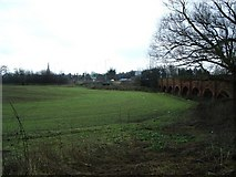 SK7954 : Field near busy Newark on Trent road junction by Michael Westley