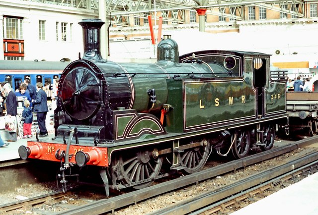 Network 150 Day - (11) LSWR Class M7 tank loco No. 245 (front view)