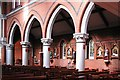 TQ3085 : Sacred Heart of Jesus, Eden Grove, London N7 - South arcade by John Salmon