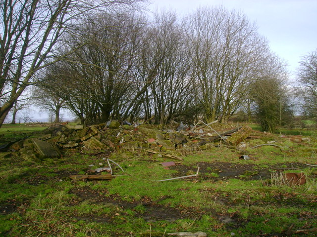 The remains of Busbyside Farm