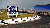 J4973 : The Castlebawn roundabout, Newtownards (3) by Albert Bridge