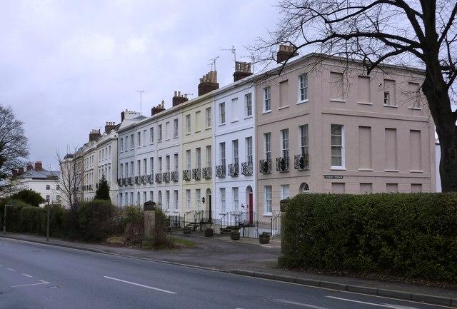 Terrace of houses, Paragon Terrace, Bath Road, Cheltenham