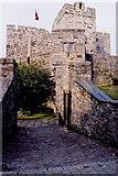 SC2667 : Castletown - Gardens along SW-W-NW castle walls by Joseph Mischyshyn
