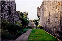 SC2667 : Castletown - Gardens along west castle walls by Joseph Mischyshyn