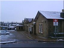 SK0394 : Glossop Railway Station by Benjamin Hopkins