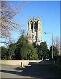 SK5993 : Tickhill Church Tower by roger geach