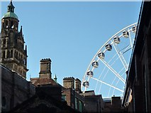 SK3587 : Town Hall and Big Wheel by Peter Barr