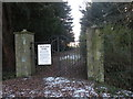 NZ2737 : The Front Gate to Croxdale Hall ( Now disused ) by malcolm tebbit