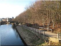 NZ2742 : River Wear approaching Durham City by Philip Barker