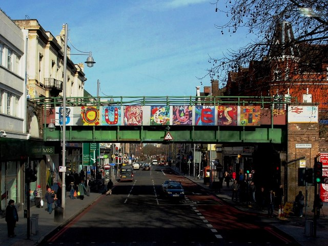 """Painted Railway Bridge in Brixton ... """"B(e) Our Guest"""""""