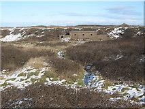 NZ5626 : WW2 pillbox in sand dunes near Teesmouth by peter robinson