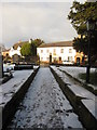 SJ3454 : The north path and gates at All Saints, Gresford by John S Turner