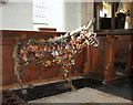 TG1506 : All Saints church - donkey by Rachel Long by Evelyn Simak