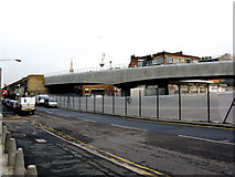 TQ3382 : Shoreditch:  north end of new viaduct by Dr Neil Clifton