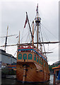 ST5872 : Stern view of the Matthew by Peter Langsdale