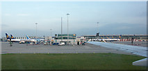 TL5523 : Northern terminal finger, Stansted airport by Peter Langsdale