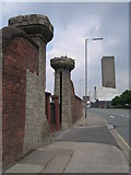 SJ3391 : Former entrance to Waterloo Dock by John S Turner