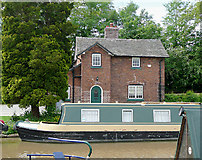 SJ6352 : Canalside cottage , Nantwich Basin, Cheshire by Roger  Kidd