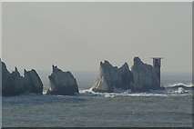 SZ2884 : The Needles Lighthouse by Peter Trimming