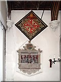 TQ1883 : St Mary, Brentmead Gardens, West Twyford - Hatchment & monument by John Salmon