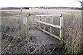 SP3674 : Footbridge over a channel near the Avon by Robin Stott