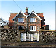 TL8786 : Semi-detached houses in The Street, Croxton by Evelyn Simak