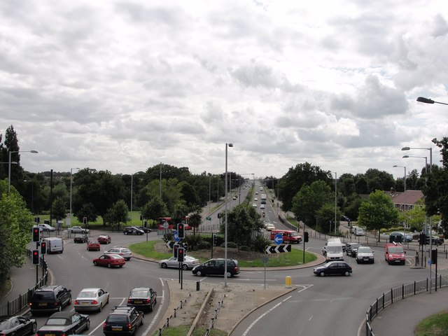 Traffic Roundabout in Whitton