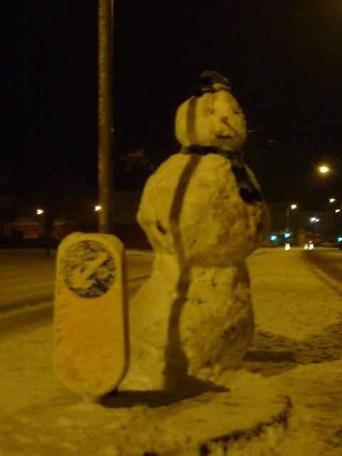 Snowman in Lytham