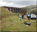 SD6196 : Canoeists' parking at Beck Foot by Andy Waddington