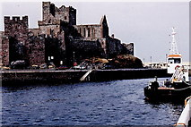SC2484 : Peel - River Neb and Harbour, Peel Castle by Joseph Mischyshyn