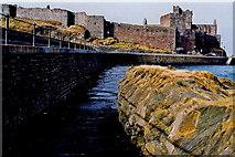 SC2484 : Peel - Harbour, West Quay, Peel Castle by Joseph Mischyshyn