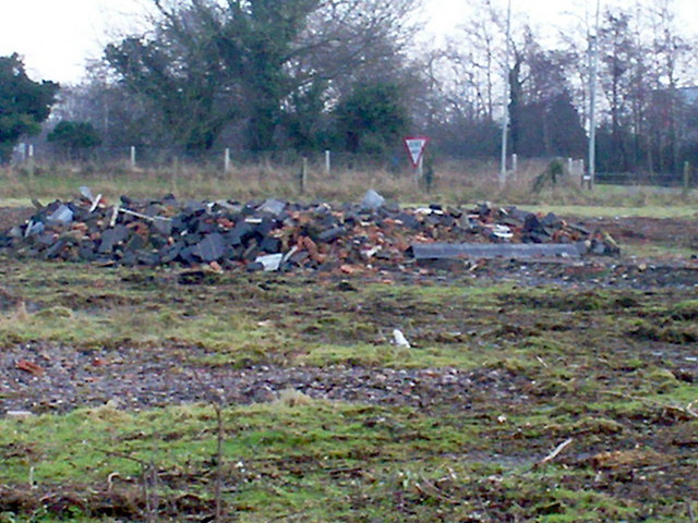 Rubble of demolished Chalet House