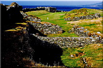 SC2484 : Peel Castle interior - View to the north along west wall by Joseph Mischyshyn