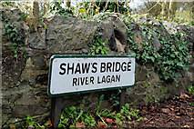 J3269 : Shaw's Bridge sign, Belfast by Albert Bridge