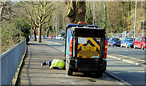J3371 : Street sweeper, Stranmillis, Belfast (3) by Albert Bridge