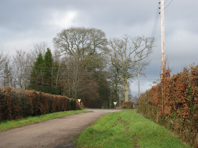 Crossroads north of Lowlands