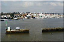 SZ3394 : Entrance to Lymington Harbour by Peter Trimming