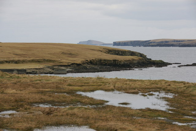 Coastline at Cumlewick Ness